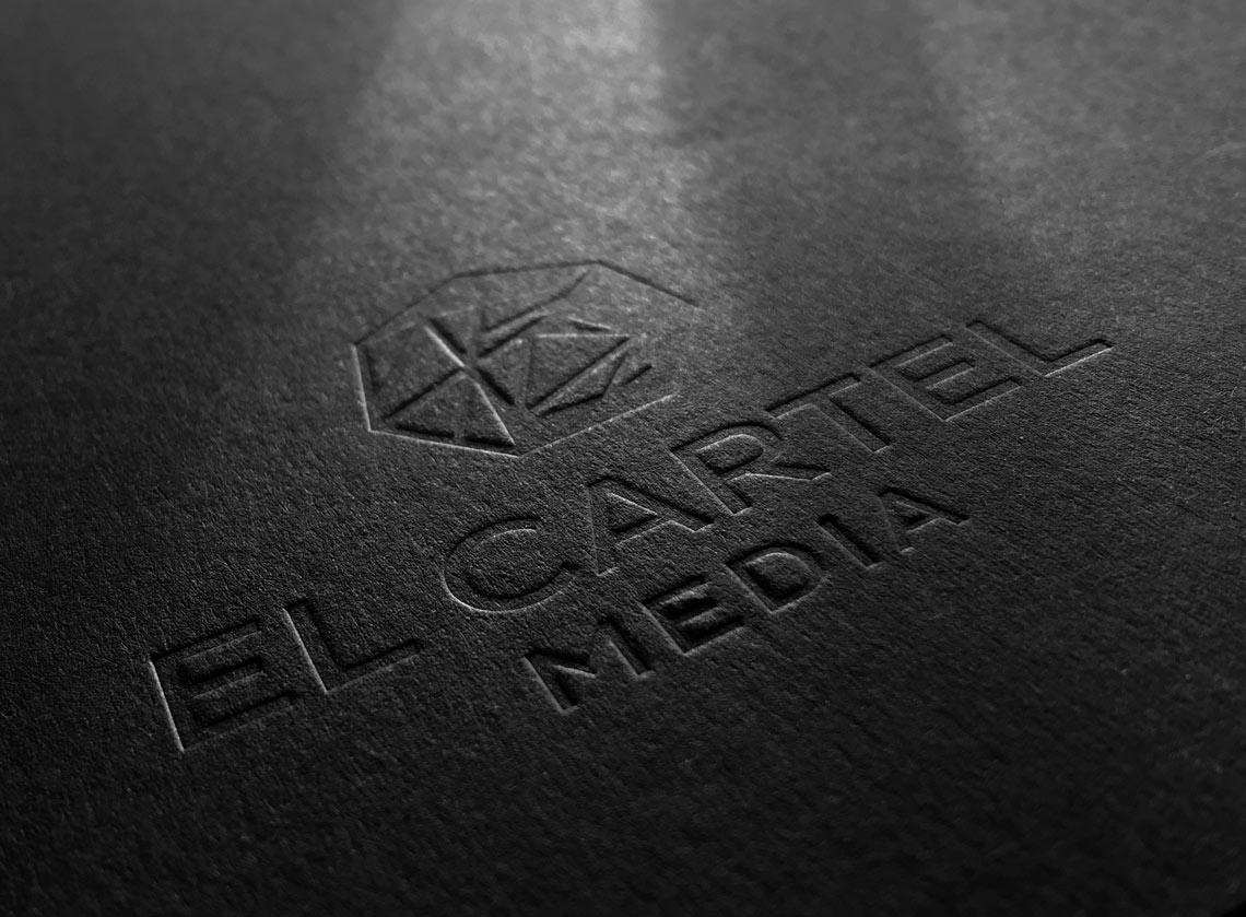 El Cartel Media Logo mockup